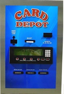 Card dispenser accepts $1,$2,$5,$10,$20 - American Changer AC2227