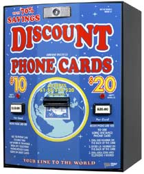 Card dispenser accepts $1,$2,$5,$10,$20 - American Changer AC502