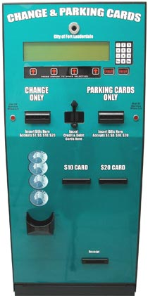 Card dispenser accepts $1,$5,$10,$20 - American Changer AC109