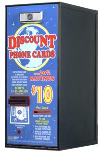 Card dispenser accepts $1,$2,$5,$10,$20 - American Changer AC501